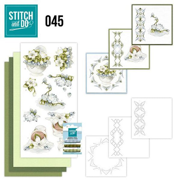 Stitch & Do Kit 045 - Winter Flowers