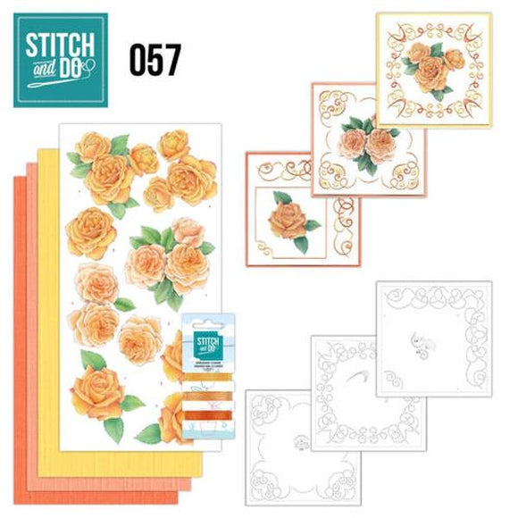 Stitch & Do Kit 057 - Orange Roses