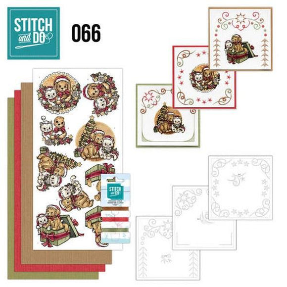 Stitch & Do Kit 066 - Christmas Animals