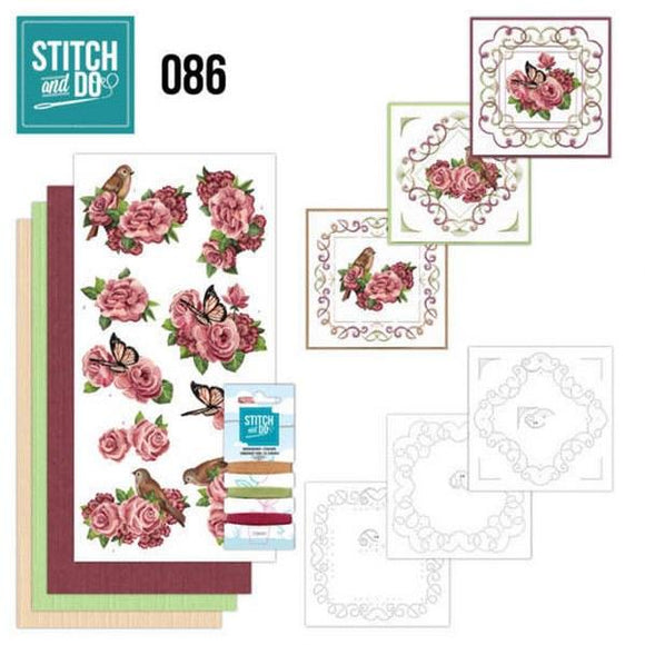 Stitch & Do Kit 086 - Birds & Roses