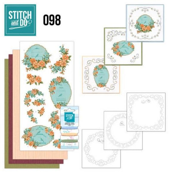 Stitch & Do Kit 098 - Floral Birdcages