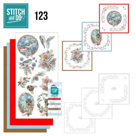 Stitch & Do Kit 123 Berries and Feathers