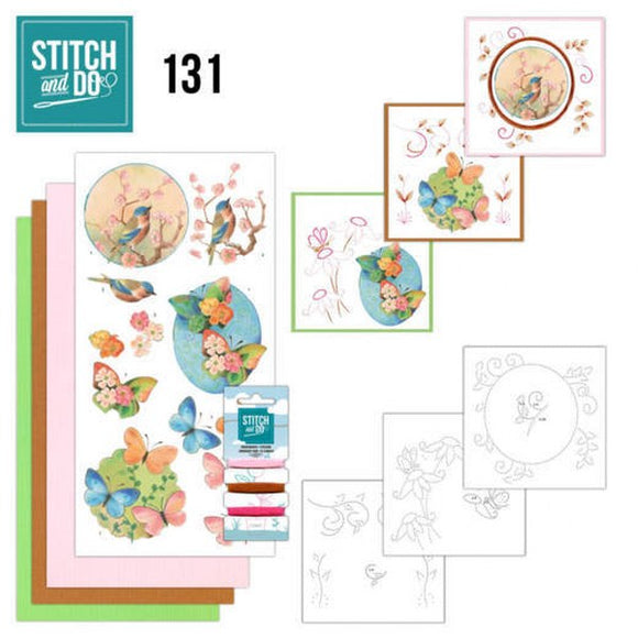 Stitch & Do Kit 131 Birds and Blossoms