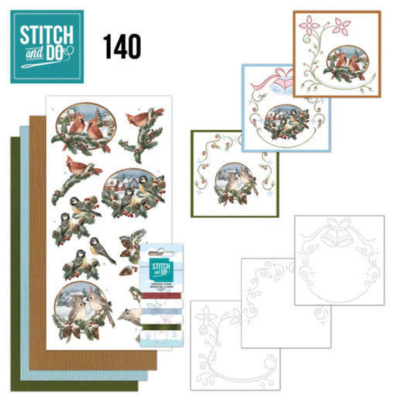 Stitch & Do Kit 140 - Christmas Birds