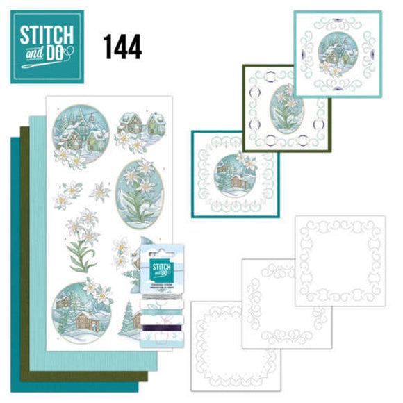 Stitch & Do Kit 144 - Wintertime - Edelweis
