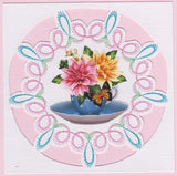 Floral Bouquets Paper Embroidery Kit