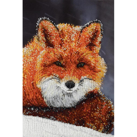 Fox Beaded Embroidery Kit from VDV
