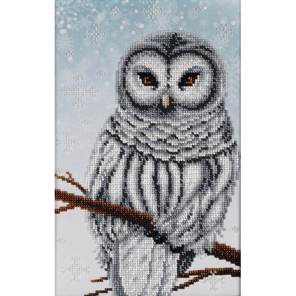 Snow Owl Beaded Embroidery Kit from VDV