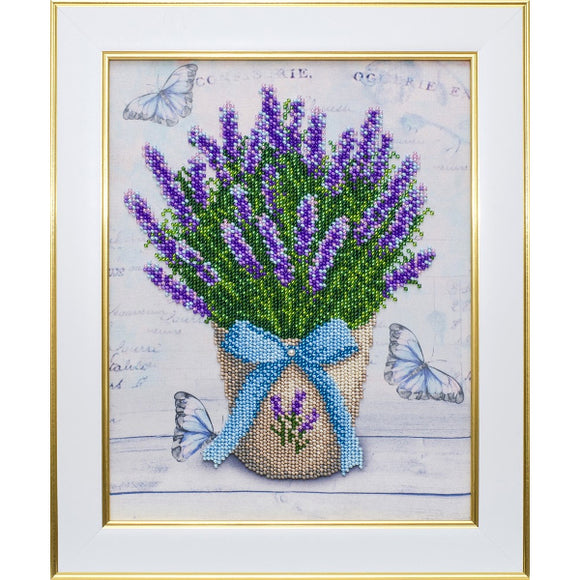 Lavender Beaded Embroidery Kit from VDV