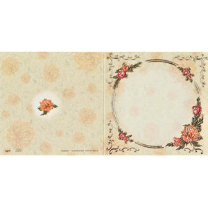 Printed Vellum Insert - Gold Flower Circle