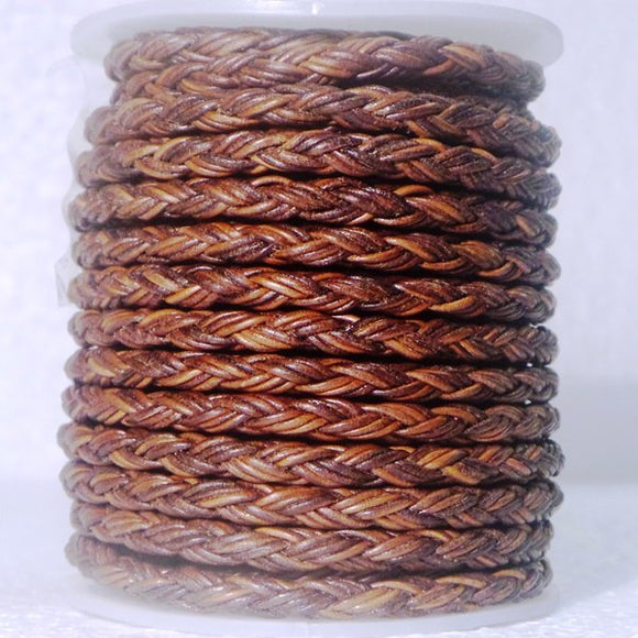 Woven Leather Cord 12 Ply