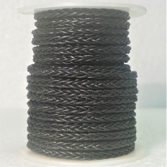 Woven Leather Cord 8 Ply
