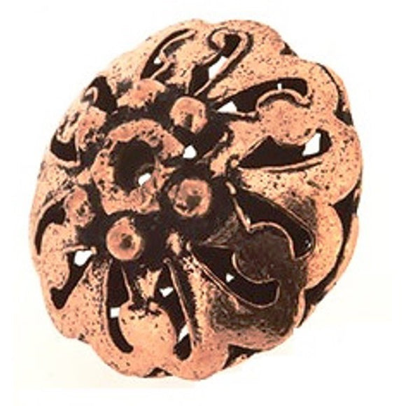 Copper Filigree Saucer Beads 16 mm Pack of 5