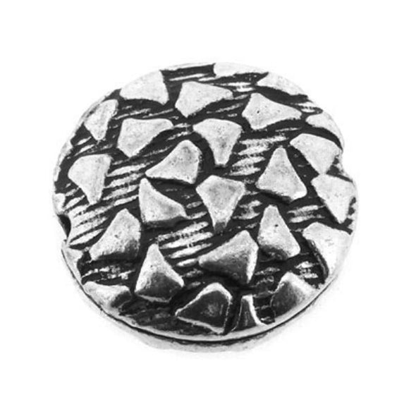 Abstract Pattern Disc Beads 12 mm Pack of 5