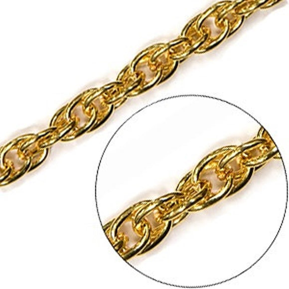 Rope Chain 5mm Gold, Silver or Antique Plate