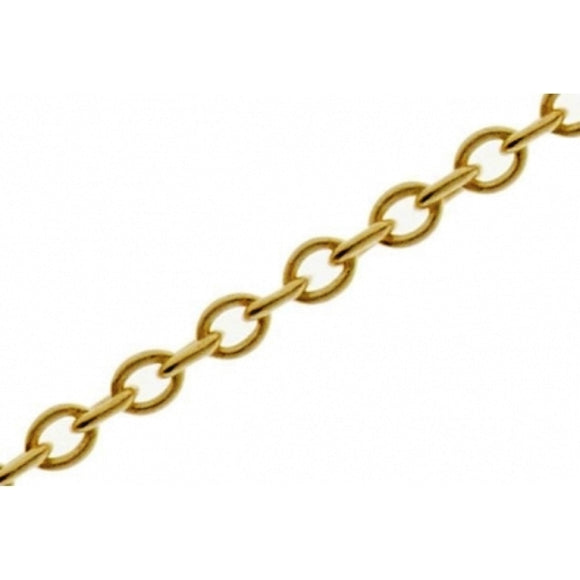 Trace Chain 6mm Gold, Silver or Antique Plate