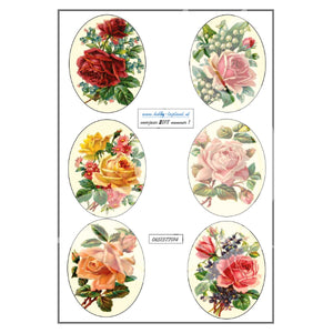 Rose Ovals Topper Sheet