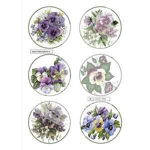 Pansies Topper Sheet