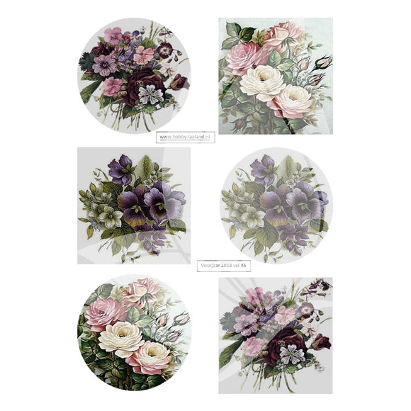 Floral Posies Topper Sheet