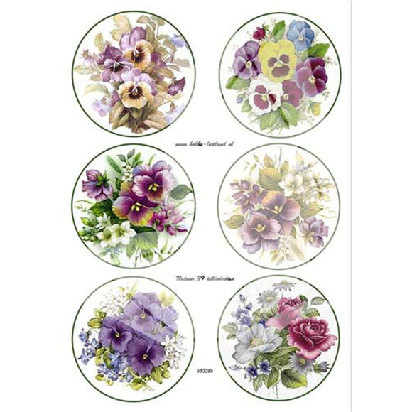Pansies & Violets Topper Sheet