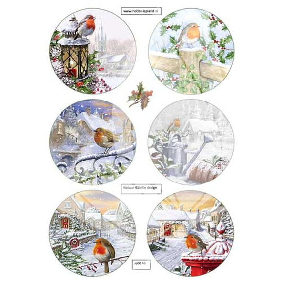 Christmas Robins 2 Topper Sheet