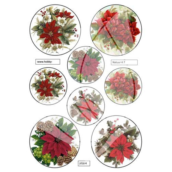 Poinsettias Topper Sheet