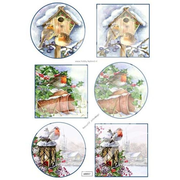 Birdhouse Robins Topper Sheet