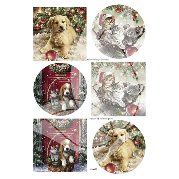 Christmas Pets Topper Sheet