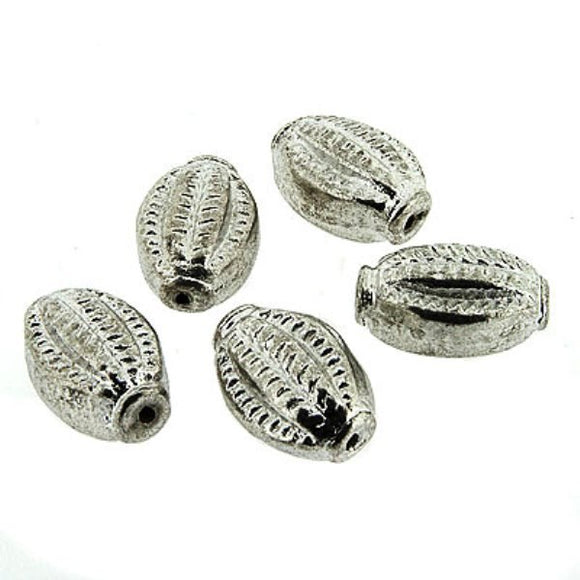 Ornate Oval Lozenge Beads 22 mm Pack of 5