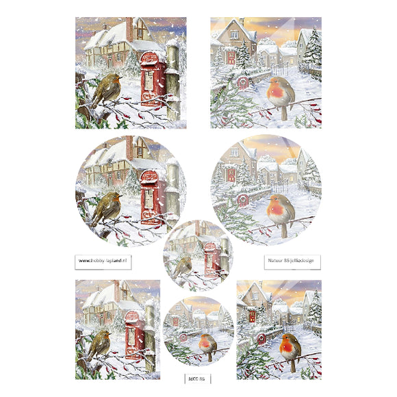 Letterbox Robins Topper Sheet
