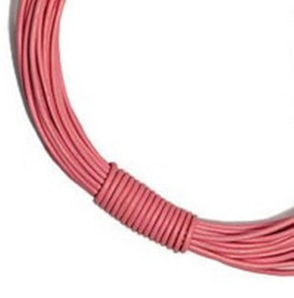 3mm Round Leather Cord in Plain Colours