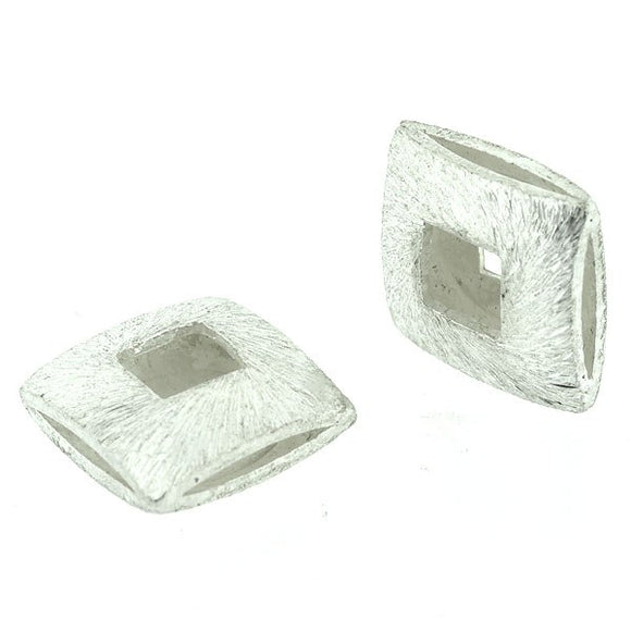 Square Hollow Pillow Beads 12mm Pack of 5