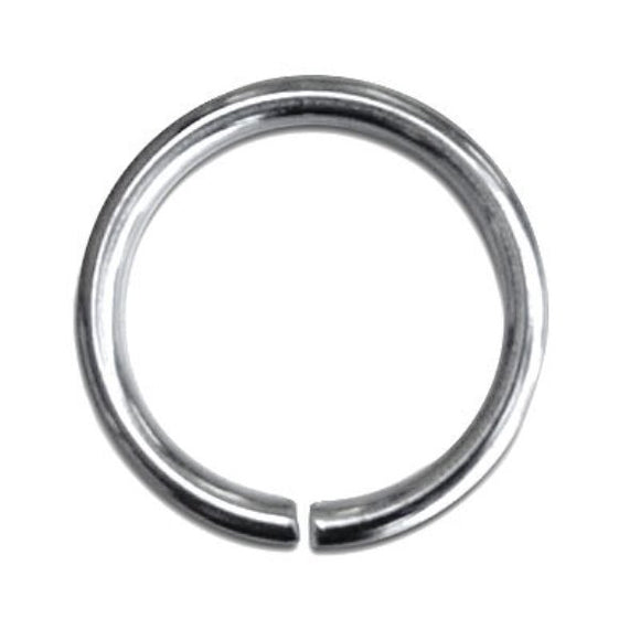 8mm Stainless Steel Jump Rings pack of 50