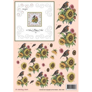 Ann's Stitching Sheet A808 with Sunflowers