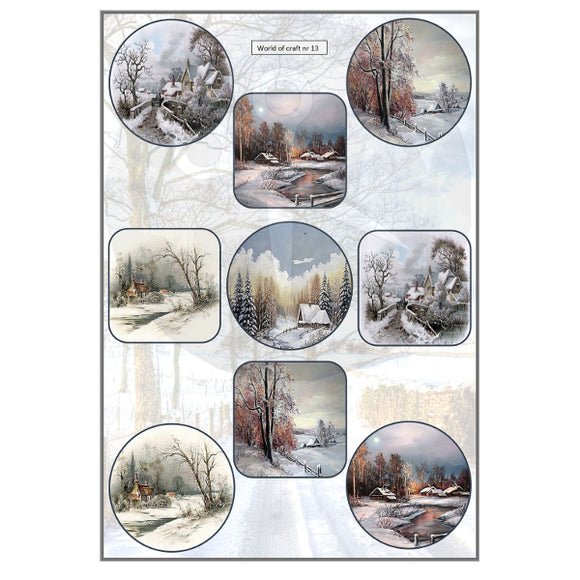 Pearlescent Winter Scenes Topper Sheet