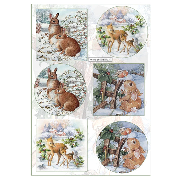 Pearlescent Rabbits & Deer Topper Sheet
