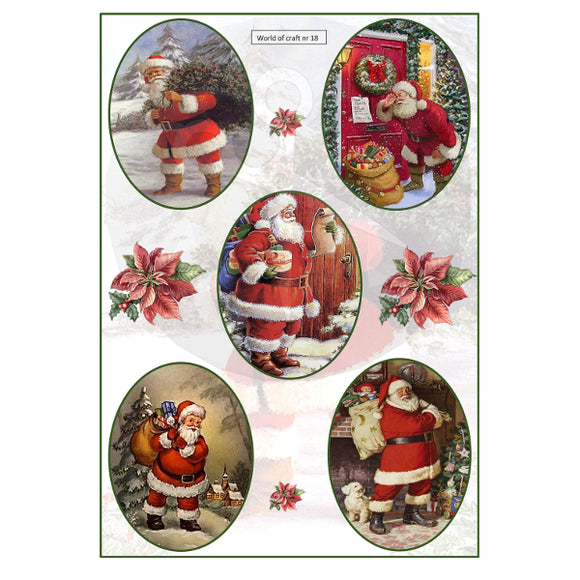 Pearlescent Father Christmas 2 Topper Sheet