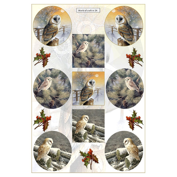 Pearlescent Barn Owls Topper Sheet