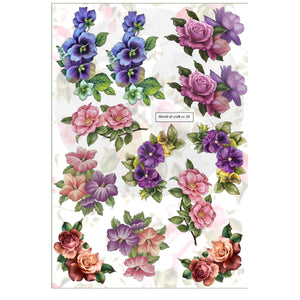 Pearlescent Flowers Topper Sheet