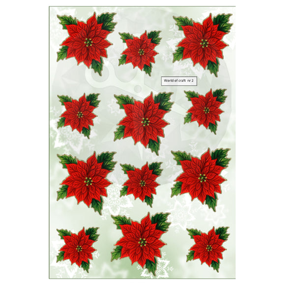 Pearlescent Poinsettias 2 Topper Sheet