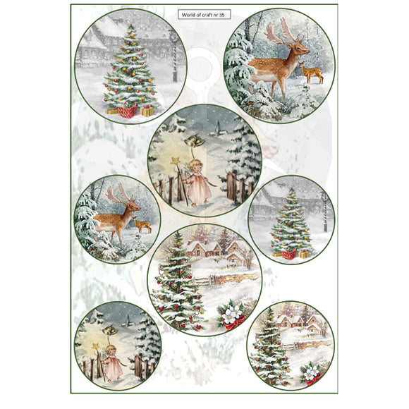 Pearlescent Christmas Trees & Deer Topper Sheet