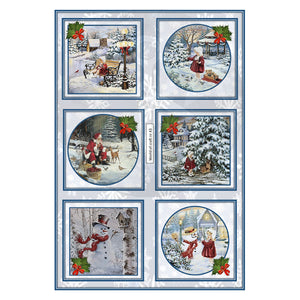 Pearlescent Christmas Scenes Topper Sheet