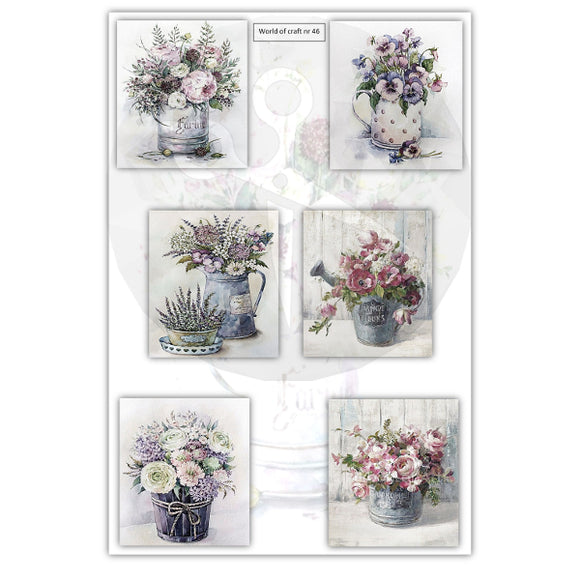 Pearlescent Floral Bouquets 2 Topper Sheet