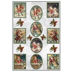 Pearlescent Father Christmas Topper Sheet
