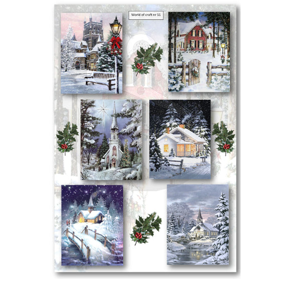 Pearlescent Winter Churches Topper Sheet