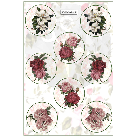 Pearlescent Floral Circles Topper Sheet