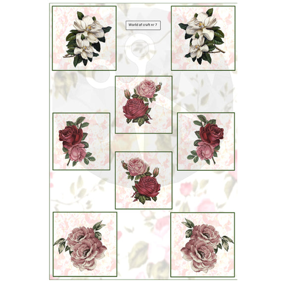 Pearlescent Rose Squares Topper Sheet