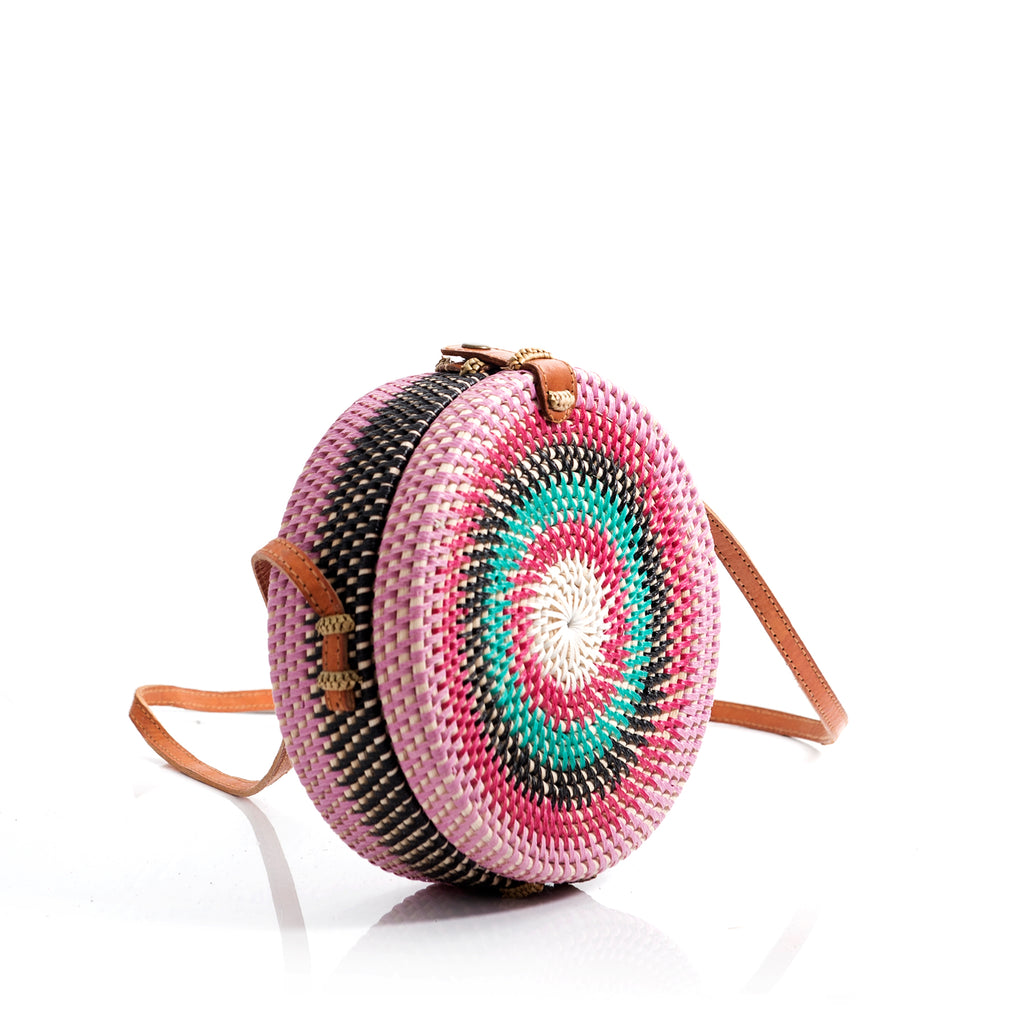 Rolling roundie woven rattan bag from farrowpeople.com