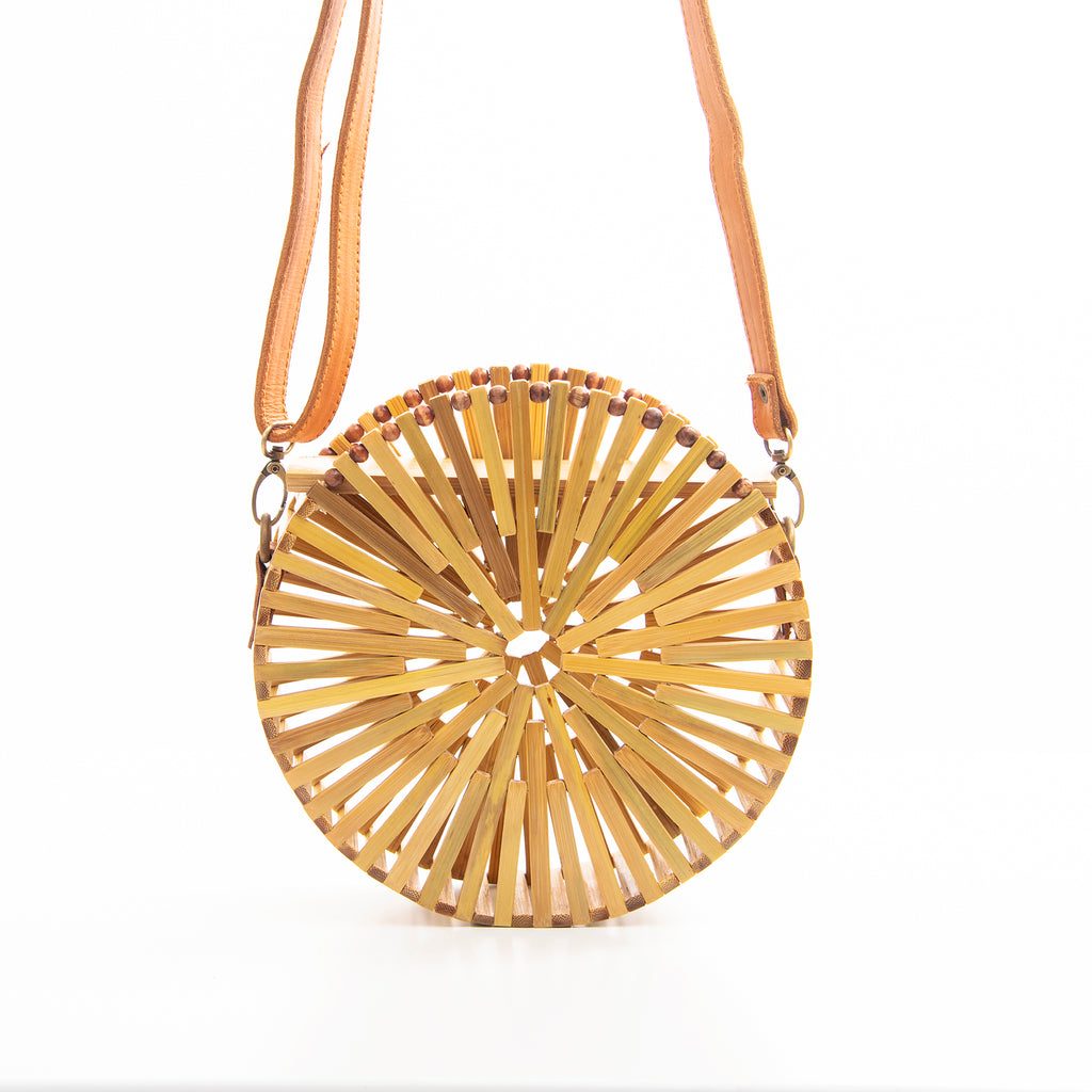 Jane Bamboo leather bag