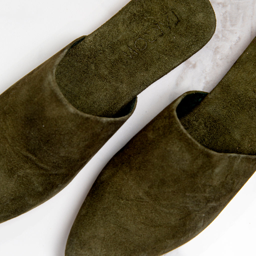 Sally suede - olive